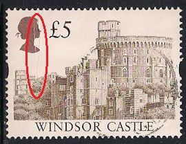 Great Britain 1448a Used - £5 Windsor Castle - Crease
