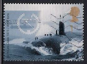 Great Britain 1971 Used - Submarine 15 1/2 x 14 1/4