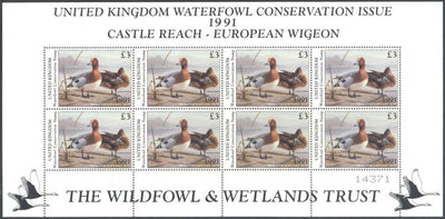 Great Britain 1991 Duck Mini Sheet