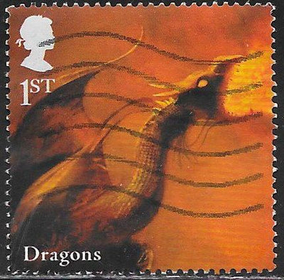Great Britain 2673 Used - ‭‭Mythical Creatures - Dragons