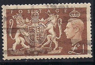 Great Britain 289 Used - Short Perf - George VI