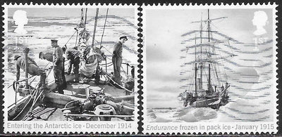 Great Britain 3462-3463 Used -‭ ‭‭Ernest Shackleton & the Endurance Expedition, Centenary