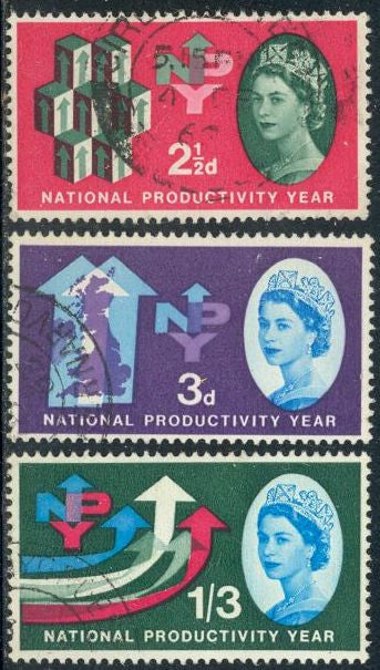 Great Britain 387-389 Used - National Productivity Year