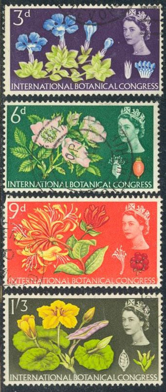 Great Britain 414-417 Used - Botanical Congress