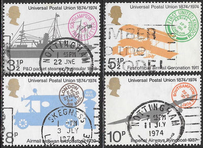Great Britain 720-723 Used - UPU Centenary - ‭Overseas Mail Transport