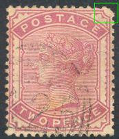 Great Britain 81 Used - Small Corner Tear - Victoria