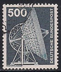 Germany 1192 Used - Technology  - Radio Telescope
