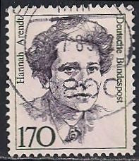 Germany 1489 Used - Famous Women - Hannah Arendt