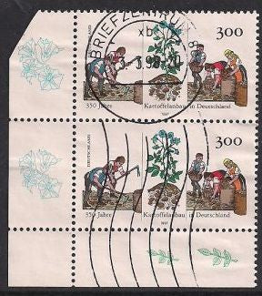Germany 1978 Used - Pair w/Selvedge - Potato Cultivation - Socked on the Nose