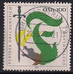 Germany 2134 Used - ‭ ‭Furth Dragon Lancing Festival - Socked on the Nose