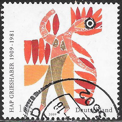 Germany 2512 Used -‭ Der Feuervogel (Firebird), Woodcut by Helmut Andreas Paul
