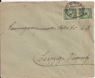 Germany 324 Cover - Rail Post - Greitz-Neumark-Sachsen Line