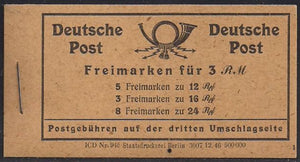 Germany 539a & 544(x8) MNH - Complete Booklet - Michel MH50