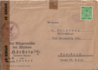 Germany 555 on Cover 1947 - Post War Civil Censorship