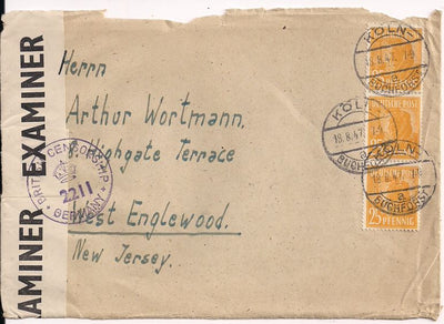 Germany 566 Cover - Front Only - British Censor