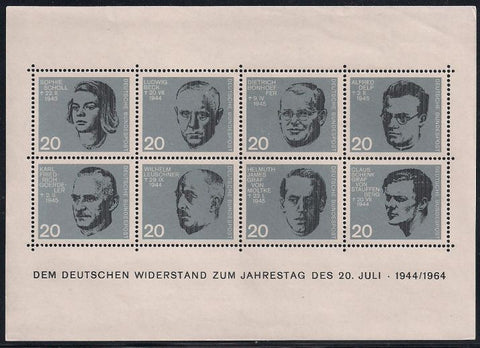 Germany 883-890 MNH - German Resistance to the Nazis