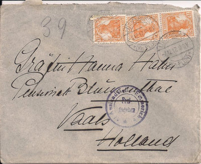 Germany 98 (x3) on Cover to Holland