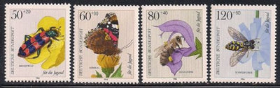 Germany B616-B619 MNH - Insects