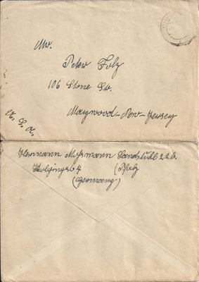 Germany Cover No Stamp - Letter Enclosed