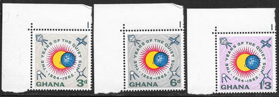 Ghana 186-188 MNH - Year of the Quiet Sun