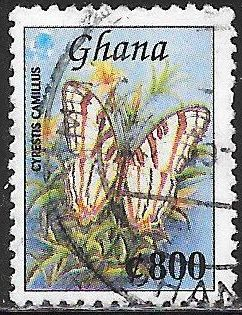 Ghana 1939B Used - ‭Butterfly - Cyrestis camillus - African Map Butterfly