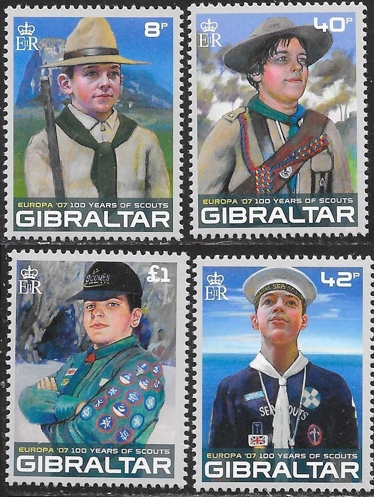 Gibraltar 1080-1083 MNH - Europa - 100 Years of Scouts