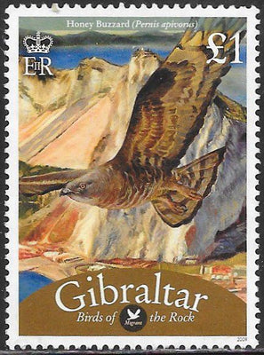 Gibraltar 1126 Used - Birds - Honey Buzzard