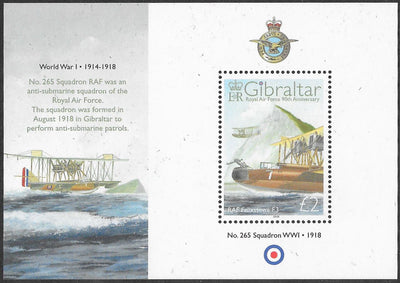Gibraltar 1141 MNH - ‭Royal Air Force, 90th Anniversary - ‭Felixstowe