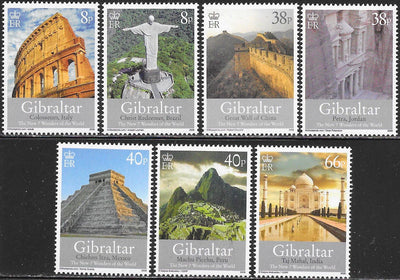 Gibraltar 1146-1152  MNH - ‭New Seven Wonders of the World
