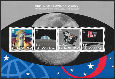 Gibraltar 1157  MNH - NASA 50th Anniversary