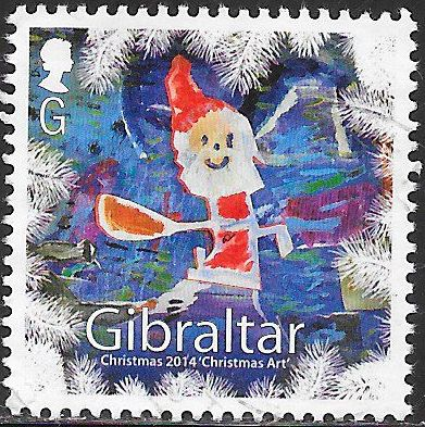 Gibraltar 1483 Used - Christmas - ‭Artwork by Disabled People - Santa Claus