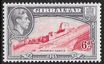 Gibraltar 113 Unused/Hinged - Moorish Castle - George VI