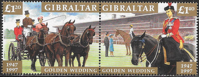 Gibraltar 734a  MNH - Golden Wedding Anniversary (1947-1997)