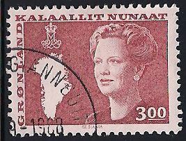 Greenland 129 Used - Queen Margarethe & Map