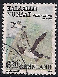 Greenland 186 Used - Birds - Common Loon