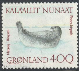 Greenland 233 Used - Walruses  & Seals - Ringed Seal (‭Phoca Hispida)