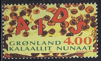 Greenland 261 MNH - AIDS Awareness