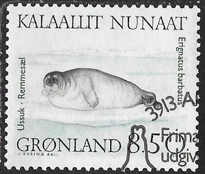Greenland 237 Used - Walruses & Seals - Bearded Seal (Erignathus barbatus)