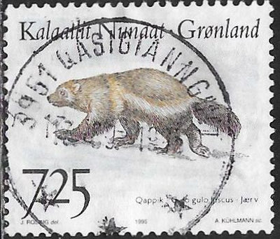Greenland 297 Used - Native Animals - Wolverine (‭Gulo gulo)