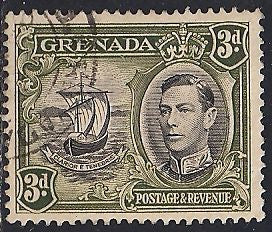 Grenada 137a Used - Ship - George VI
