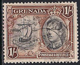 Grenada 139a Used - Ship - George VI
