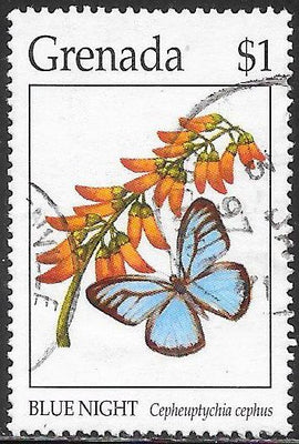 Grenada 2382 Used - Butterflies - Blue Night
