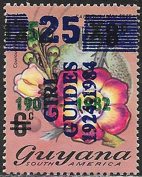 Guyana 837 Used - Cannonball Tree - Girl Guides