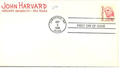 US 2190 FDC - Great Amer. - John Harvard - Charlton Cachet