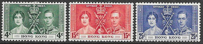 Hong Kong 151-153 Unused/Hinged - George VI Coronation