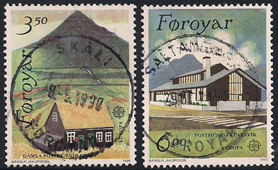 Faroe Islands 205-206 Used - Europa - Post Offices - Socked on the Nose