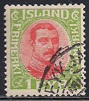 Iceland 108 Used - CTO - King Christian X