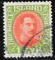 Iceland 108 Used - King Christian X