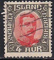Iceland 110 Used - King Christian X