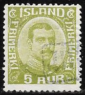 Iceland 112 Used - Christian X - Revenue Cancel